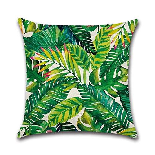 (BUY JOY joybuy Tropische Pflanzen-Stil, Baumwolle Leinen Kissenbezug 18x 18Zoll, Baumwoll-Leinen, 07, 18