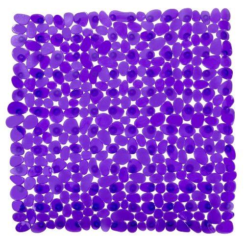 WENKO 20269100 Duscheinlage Paradise Purple - Rutschstopp, Saugnäpfe, Kunststoff, Lila