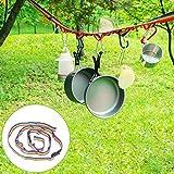 Cuerda de almacenamiento para acampadas, de Aolvo, cuerda colorida para colgar, accesorios para tiendas de campana, uso al aire libre, acampada