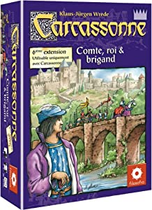 Z-Man Games- CARC08 - Carcassonne - Extension 6 - Comte, Roi et Brigand