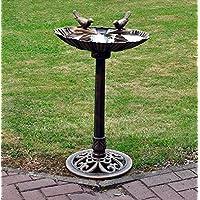 Tradicional resistente al agua Jardín pedestal Bird Bath–BRONCE