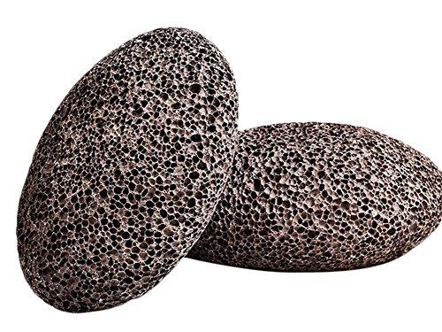 Vulkanischer Bimsstein (Chytaii Vulkanischer Bimsstein, natürlich, für Füße, Peeling, gegen abgestorbene Haut, 2 Stück)