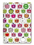 Collegetimer Pocket Apples 2015/2016 - Schülerkalender A6 - Day By Day - 352 Seiten