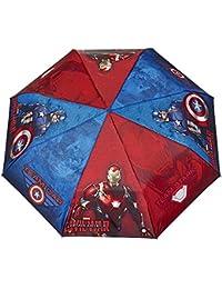 Paraguas Plegable para Niño Marvel Los Vengadores - Mini paraguas Avengers con Capitán América y Iron