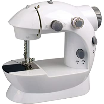 Sentik Mini Stitch Handheld Portable Sewing Machine 4 x Bobbins + Foot Pedal + Needle & Threader
