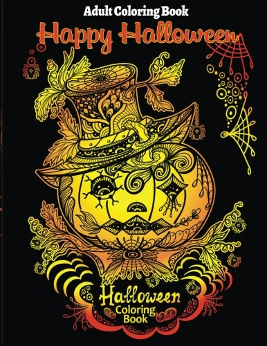 Halloween Coloring Book for Stress Relieve and Relaxation (Adult Halloween Dekoration)