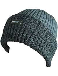 Stylish Mens Two Tone Thinsulate Insulation 40gram Rib Knit Beanie Hat