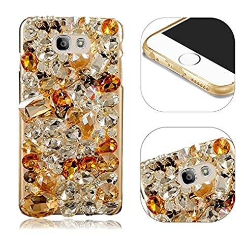 Etui Housse Coque pour Samsung Galaxy A5 2017 A520 Bling Diamant Strass Case Cover de Protection Rhinestone Cas,MingKun Samsung Galaxy A5 2017 A520 Sac Shell Coquille Arrière Hull pour Samsung Galaxy A5 2017 A520 Shinny Shining Couvrir Couverture