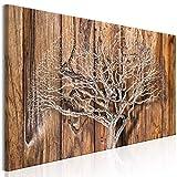murando - Bilder Baum 150x50 cm Vlies Leinwandbild 1 TLG Kunstdruck modern Wandbilder XXL Wanddekoration Design Wand Bild - Holz Optik b-C-0214-b-a