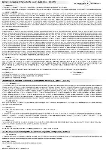 SJ3D Passive 3D Brillen - Set für Sie und Ihn - 2x Hochwertige 3D Brille - schwarz/orange & weiß/türkis - Polfilterbrille zirkular polarisiert - Für RealD Passive 3D Kino & TV: LG Cinema 3D Philips Easy 3D Telefunken Toshiba 3D Natural Vizio 3D und 3DTVs von SONY Grundig Panasonic Hisense CMX uvm. - Inkl. Mikrofaser Brillenbeutel und Putztuch