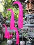 Asiastyle Bali-Fahne, Pink, 200cm inkl. Stock