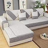 weiwei Sofaüberzug für Sofakissen, 4 Jahreszeiten, einfach, Rutschfest, für Wohnzimmer und Sofa, J, 70cm*150cm