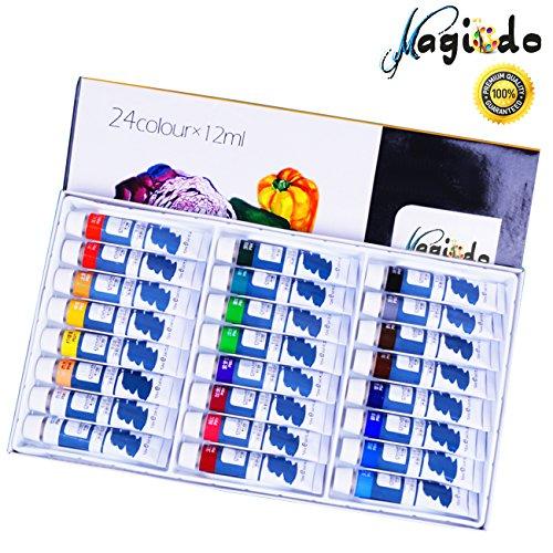 Magicdo Gouache Paint Set, Gouache Set of 24, no tóxico, pintura al gouache color, gouache profesional artista pinturas para artistas, estudiantes y principiantes