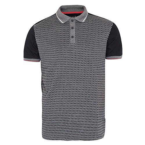 Merc London Marcel Jacquard Polo in Black Black