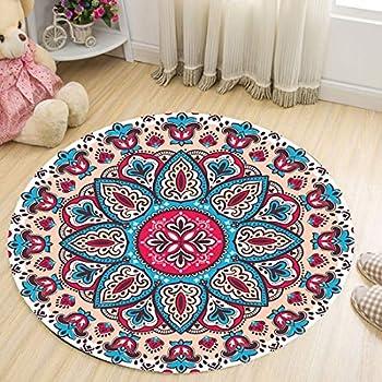 Teppiche Matten Heimtextilien Bad Bettwaren Merinos Mandala Teppich Rund In Strickoptik Multifarben Grosse 150 Cm Rund Exclusivefitness Gr