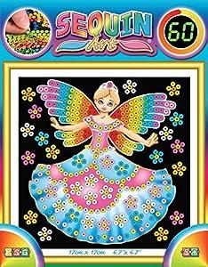 Arte de la Lentejuela - KAD 1336 - Pintura En el número - Patrón de Princesa - 20 x 20 cm - Arte de la Lentejuela 60 - Color Aleatorio