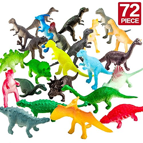 Figuren von Dinosauriern,72 Stücke Mini-Dinosaurier-Set,sicheres Material,Gemsichte Plastikdinosaurier,Tierwelt,Speilset,Spielzeug für Jungs,Partyzubehör,Lernstoffe -