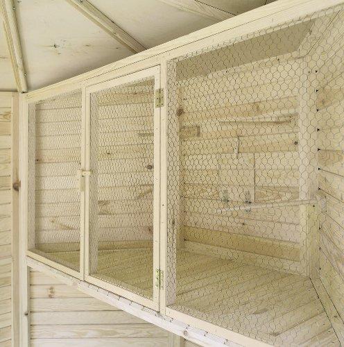 PROMADINO Voliere »Vogelkäfig für 8-eck Voliere« 180 cm x 80 cm x 53 cm
