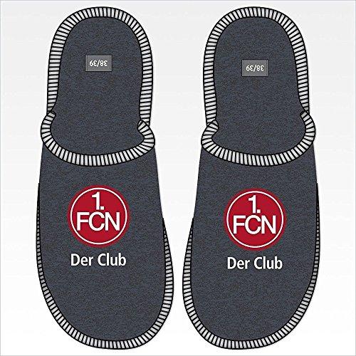 1-FC-Nrnberg-Pantoffel-Der-Club-Hausschuhe-Wohlfhlschuhe-Filz-Gre-44