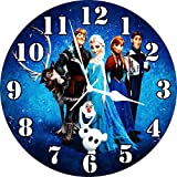 Wall Clock 3D Frozen Sisters. Wall Clock Watch Vintage Analogue Movement Wall Clock Without Glass For Home / Kitchen / Living Room / Bedroom / Office Designer Wall Clock /Retro Vintage Hand Made 3D Wall Clock / Antique Clock Decorative