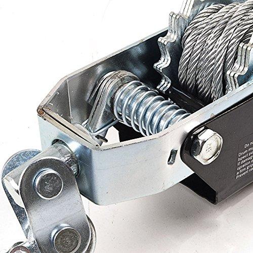 Generic dyhp-a10-code-3759-class-1-Kabel Lockvogel ER Haken Twin Gear Twin 4Tonnen 3m schwere Pflicht Auto TR Winde Kran Boot uty W Auto Trailer 23M Heav--dyhp-uk10-160819-1633 - Heavy Duty Gear Puller