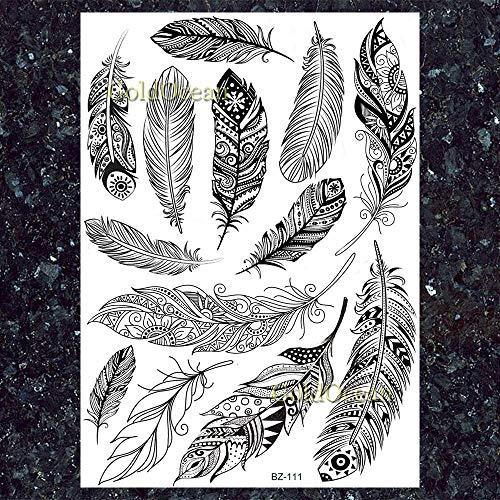 Yyoutop Neue Abbildung Schwarz Fox Wolf Tattoos Aufkleber Nacken Brust Handgelenk Flora Tattoo Papier Für Frauen Männer Benutzerdefinierte Tatoos 2 Satz (Benutzerdefinierte Schwarze Auge Aufkleber)