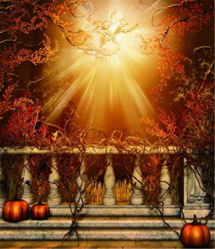 ZTYR Halloween felice zucca LED stampa tela arte decorazione interna