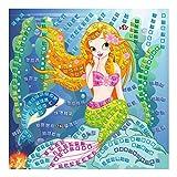 Ursus 8420002 - Moosgummi Mosaikbild, Meerjungfrau mit Glitter, 434-teilig, bunt