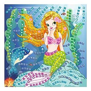 Ursus 8420002-Musgo Goma Mosaico de Sirena con Glitter, 434Piezas