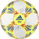 adidas CONEXT19 TTRN Soccer Ball, Hombre, Top:White Yellow/Solar Red/Football Blue Bottom:Silver Met, 5