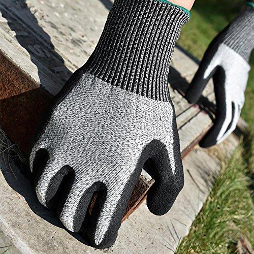 JZDCSCDNS Schnittfest Sicherheit Handschuhe Anti-Kratz Anti-Zerreißen Verschleißfest Persönlicher Schutz Schneidejob Autoreparatur...