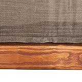 Ampel 24 Relax Liegestuhl Tropica | 100% wetterfeste Gartenliege | vorbehandeltes Holz | mit Armlehnen | Bezug braun - 4