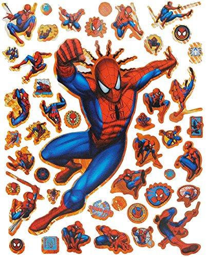 Unbekannt 44 TLG. Set - Spiderman - Sticker / Aufkleber - Kinder Kind Disney groß - Spider-Man / Kindersticker Kinderaufkleber Aktion Held - Stickerset
