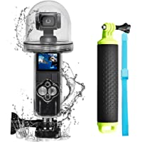 first2savvv 60 m Waterproof Housing Case Compatible with DJI OSMO Pocket Protective Underwater Dive Case Shell with…