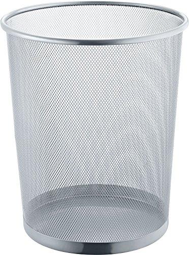Helit H2518500 Papierkorb Mesh, 15 L, Metall, silber