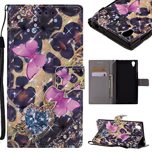 CHENJUAN 3D-Flash Painted Design für Sony Xperia E6 / Sony Xperia L1, PU-Leder aufgeteilter Flip-Cover (Pattern : 1)