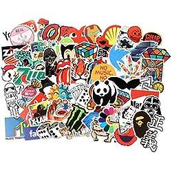 WeeDee Autocollant Lot [300-pcs] Graffiti Autocollants Stickers vinyles pour ordinateur portable, enfants, voitures, moto, vélo, Skateboard bagages, Bumper Sticker hippie autocollants Bomb étanche