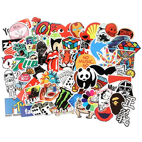 Aufkleber Pack 300 Stücks Wasserdicht Vinyl Stickers Graffiti Decals Stickerbomb für Auto Motorräder Fahrrad Skateboard Snowboard Gepäck Laptop Macbook Computer iPhone PS4 Xbox One Nintendo Switch
