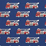 Fabulous Fabrics Baumwolljersey Feuerwehr 1 – blau —
