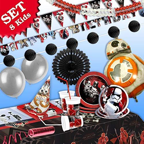 geburtstagsfee Star Wars de Juego, 91Piezas de decoración de cumpleaños para niños Cumpleaños Niño y Star Wars de temática de Fiesta para 8Darth Vader Fans