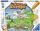 """Ravensburger tiptoi Spiel """"Quer durch Europa"""" - 00579 / Wissensspiel mit spannender Geschichte und Informationen über die wichtigsten Metropolen / Ab 7 Jahre"""