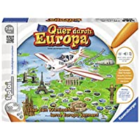 Ravensburger-00579-tiptoi-Spiel-Quer-durch-Europa Ravensburger tiptoi Quer durch Europa Spiel, ab 7 Jahren, Wissensspiel mit spannender Geschichte und Informationen über die wichtigsten Metropolen Europas -
