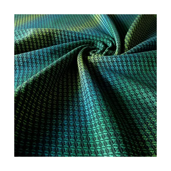 Didymos Woven Baby Wrap, Facett Tethys, Size 8, 570 cm, Black/Green Didymos Various carrying positions, in front, sideways an on the back Special, diagonally stretchable cloth to give optimal support Holds your baby in the anatomically correct posture 2