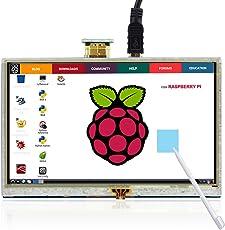 Elecrow 5 Zoll HDMI LCD 800*480 Hoch Auflösung Touchscreen Monitor für Himbeer Raspberry Himbeer Pi 3B /A+/B+/2B
