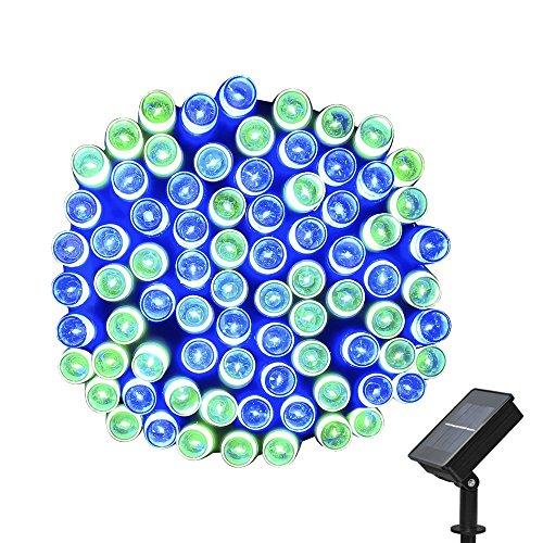 Lichterkette Außen, (22m 200 LED) 8 Modi Weihnachtsfeenhafte Beleuchtung Lichterkette für Weihnachtsbaum, Partei, Rasen, Garten, Hochzeit Dekoration, Feier Festakt (Blau Grün) (Halloween Rabatt Dekorationen)