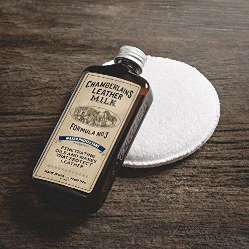 Chamberlain's Leather Milk - Water Protectant Nr. 3 - Imprägniermittel für Leder - Naturbasis/ungiftig - 1 Auftragepad - Hergestellt in den USA - 2 Größen - 0.18 L