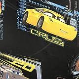 Lizenzprodukt Cars Cruz Schwarz Neuheit Premium Grade 100% Baumwolle feines Gewebe Kinder Vorhang Betten Stoff 140cm breit, Meterware,