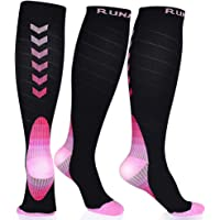 RUNACC Chaussettes de Contention pour Femmes et Hommes 20-30mmHg Meilleures Chaussettes de Compression pour la…