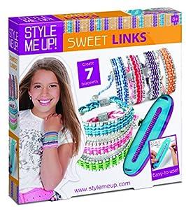 Style Me Up - Set para hacer pulseras para niñas, DIY 7 brazaletes diferentes con hilos de colores - Para niñas de 8 años en adelante - Buki France - SMU-869