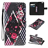 Coque-pour-iphone-6-PLUS-6S-PLUS-Etui-pour-iphone-6-PLUS-6S-PLUS-Coque-Flip-Housse-Wallet-Protection-CaseCozy-Hut-Rtro-Peint-Motif-Bookstyle-Etui-Housse-Cuir-PU-Portefeuille-Folio-Flip-Case-Cover-Wall